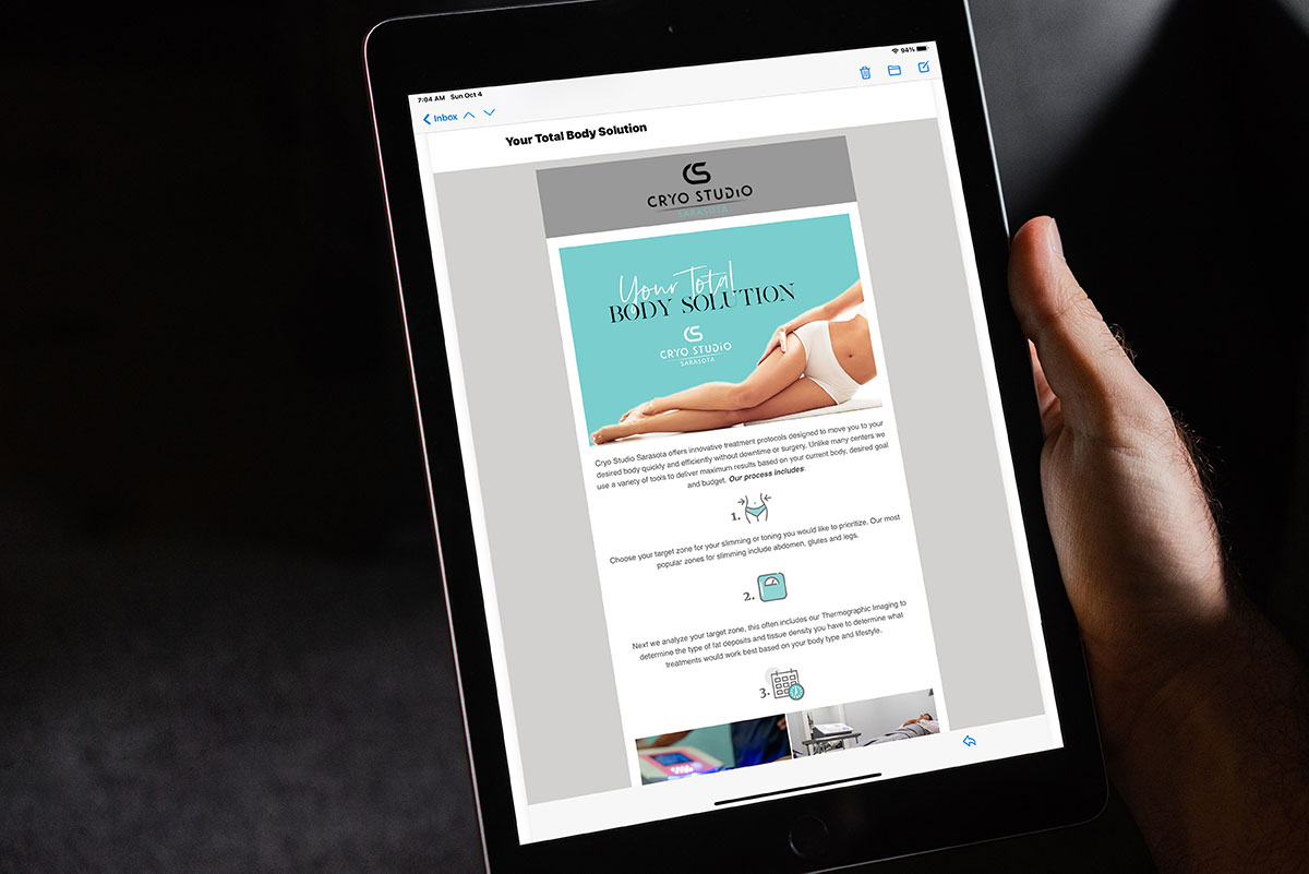 newsletter design and copy