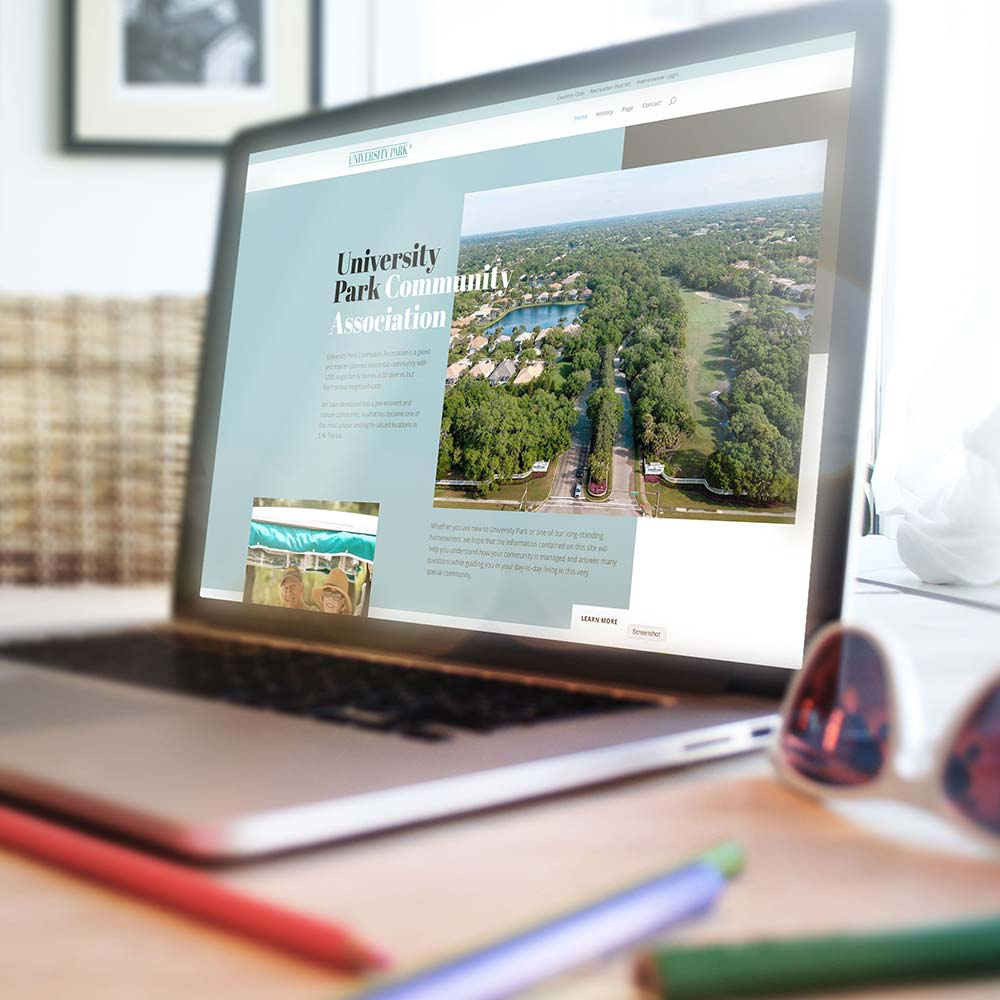 university park website design